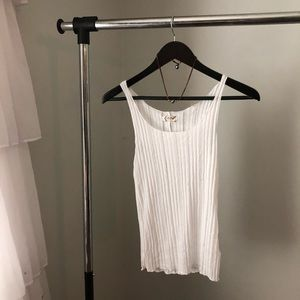 Free people white ribbed cami size small